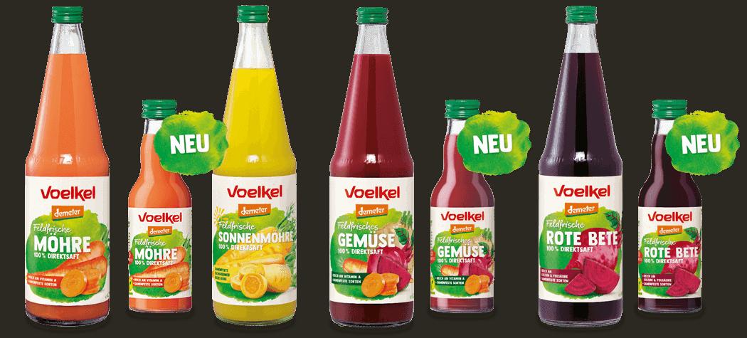 Feldfrische Gemüsesäfte von Voelkel entdecken! (Banner)