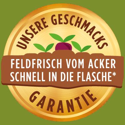 Geschmacksgarantie : Feldfrische Siegel